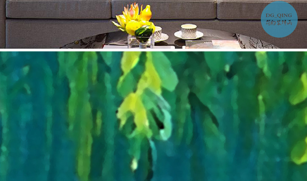 绿意盎然杨柳青青绿色欧式小清新家居装饰画