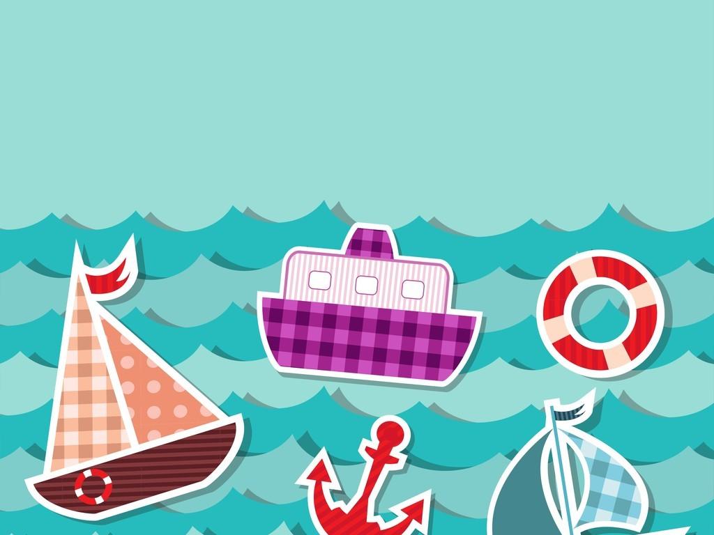 设计元素 其他 其他 > 海洋交通工具帆船轮船泳圈  版权图片 设计师