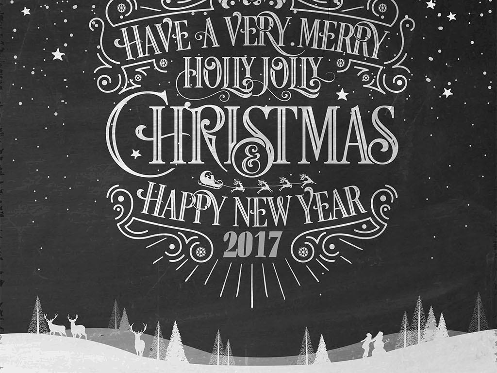 海报背景元旦新年圣诞矢量手绘校园活动背景学校