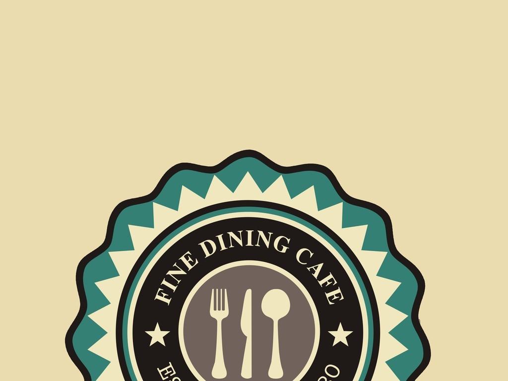 徽章loge欧美风格设计图欧式徽章餐饮企业班徽运动会徽章