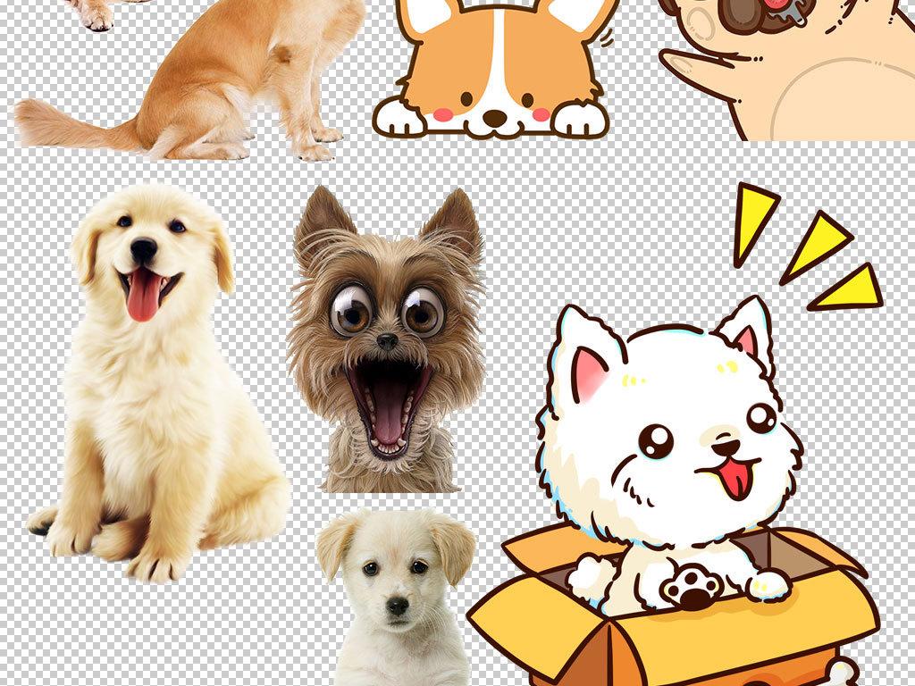 卡通可爱小狗造型png素材