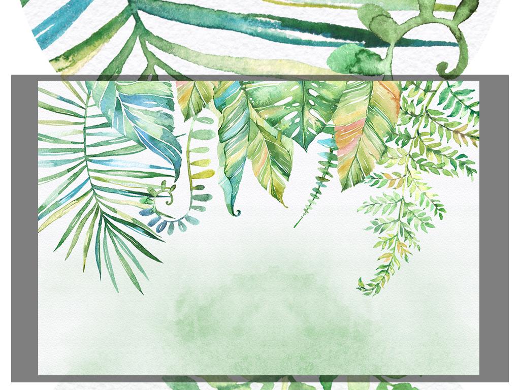 3d梦幻小清新手绘藤树花卉客厅电视背景墙
