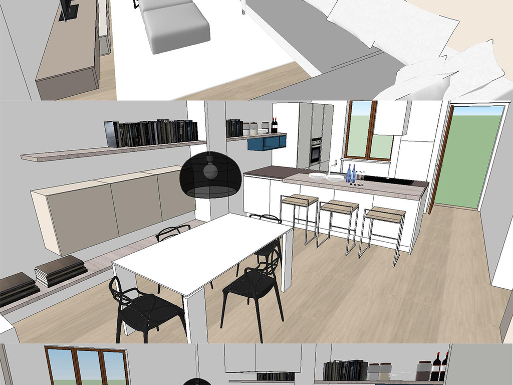 室内小公寓简单设计su模型