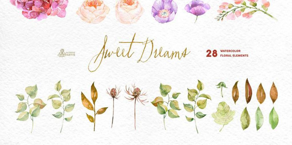 素材花艺水彩植物高清婚礼高清素材水彩素材手绘人物手绘墙手绘背景墙