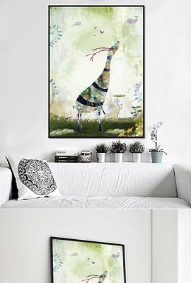 北欧唯美手绘水彩装饰画