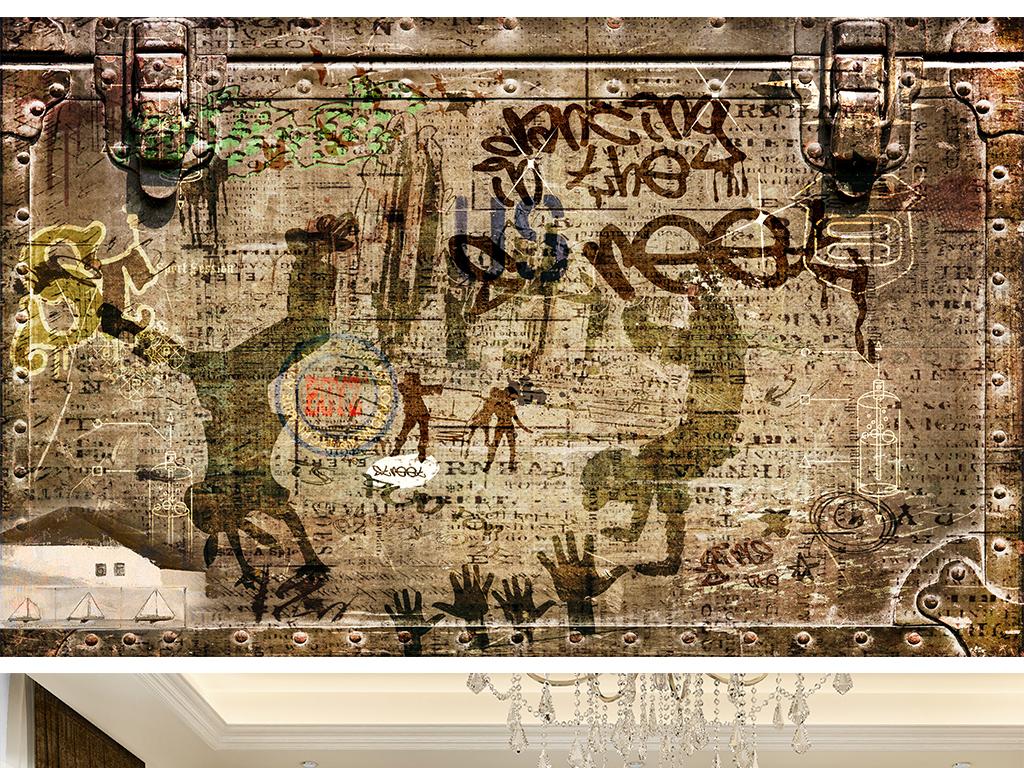背景墙|装饰画 电视背景墙 欧式电视背景墙 > 欧式复古街头涂鸦文化