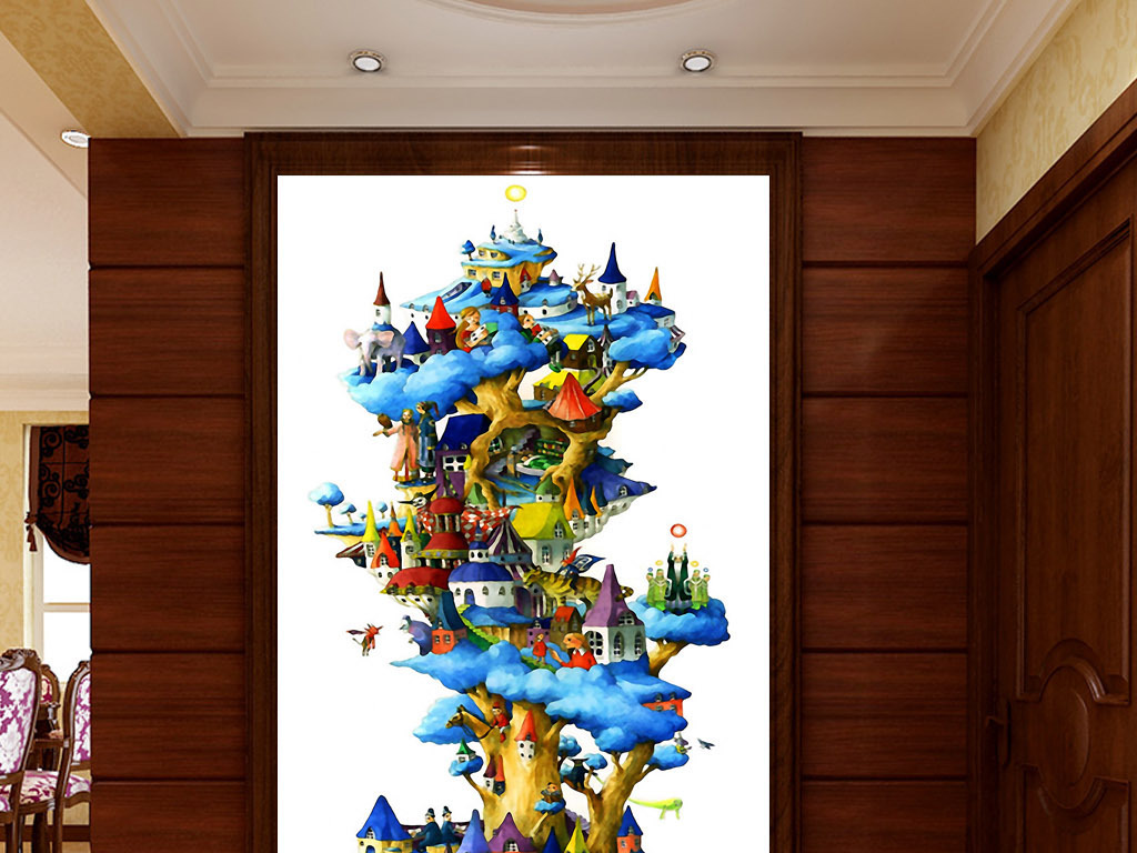 欧式 新中式 中国风 中式 北欧 美式 欧美 现代 家居 室内 客厅 玻璃 水彩 水彩画图片 唯美 奢华 手绘 水彩画 墙画 壁画 装饰画 背景墙 无框画 图案 设计 大树 城堡 童话 欧式城堡 清新装饰画 童话城堡 丹麦 城堡童话 装饰画欧式 清新童话 大树装饰画