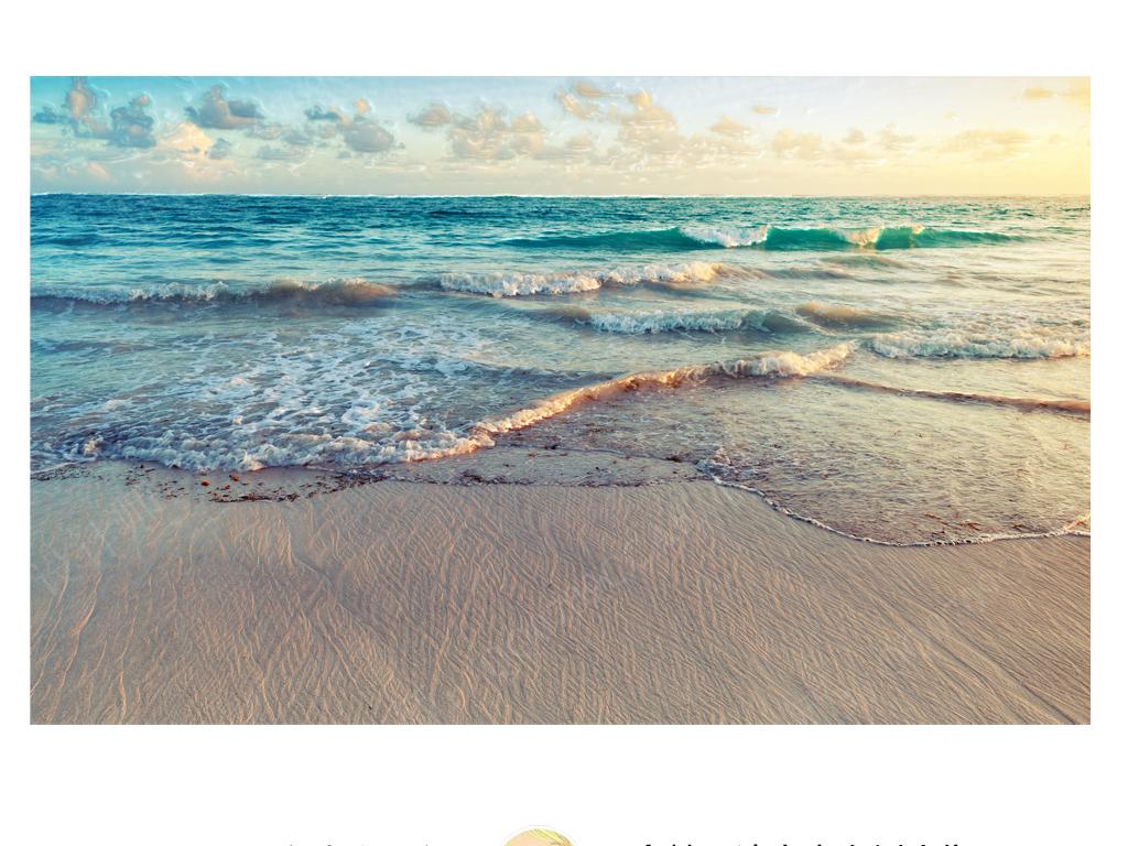 背景墙|装饰画 壁画 风景壁画 > 北欧简约摄影蔚蓝海洋海滩心旷神怡背