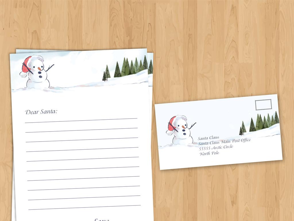 圣诞节信纸图片
