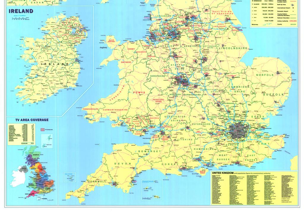 平面|广告设计 地图 其他地图 > 英国地图高清大图