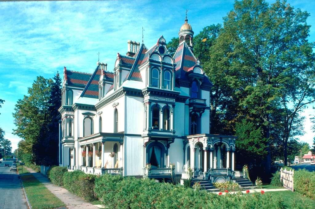 欧式别墅建筑家居房子园林景观豪宅
