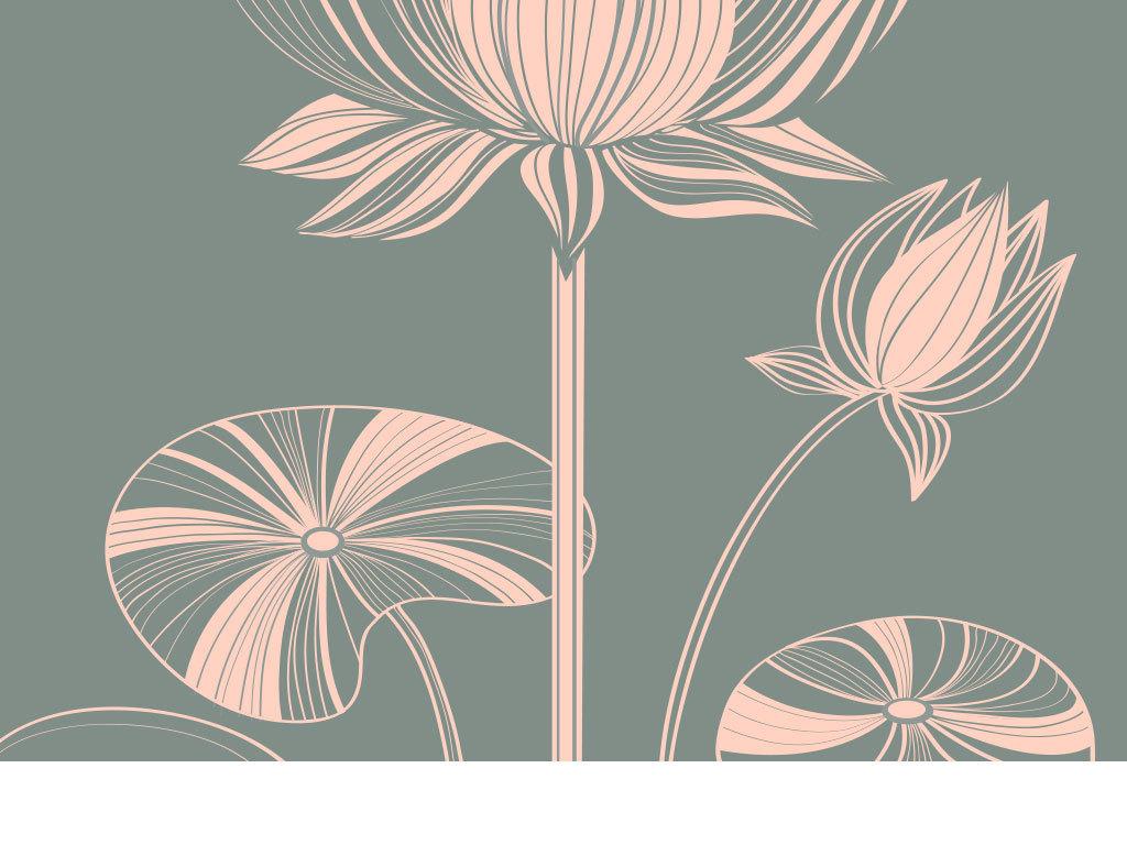 原创设计手绘线稿鲜花花朵底纹背景图素材是用户qq4ba3a4
