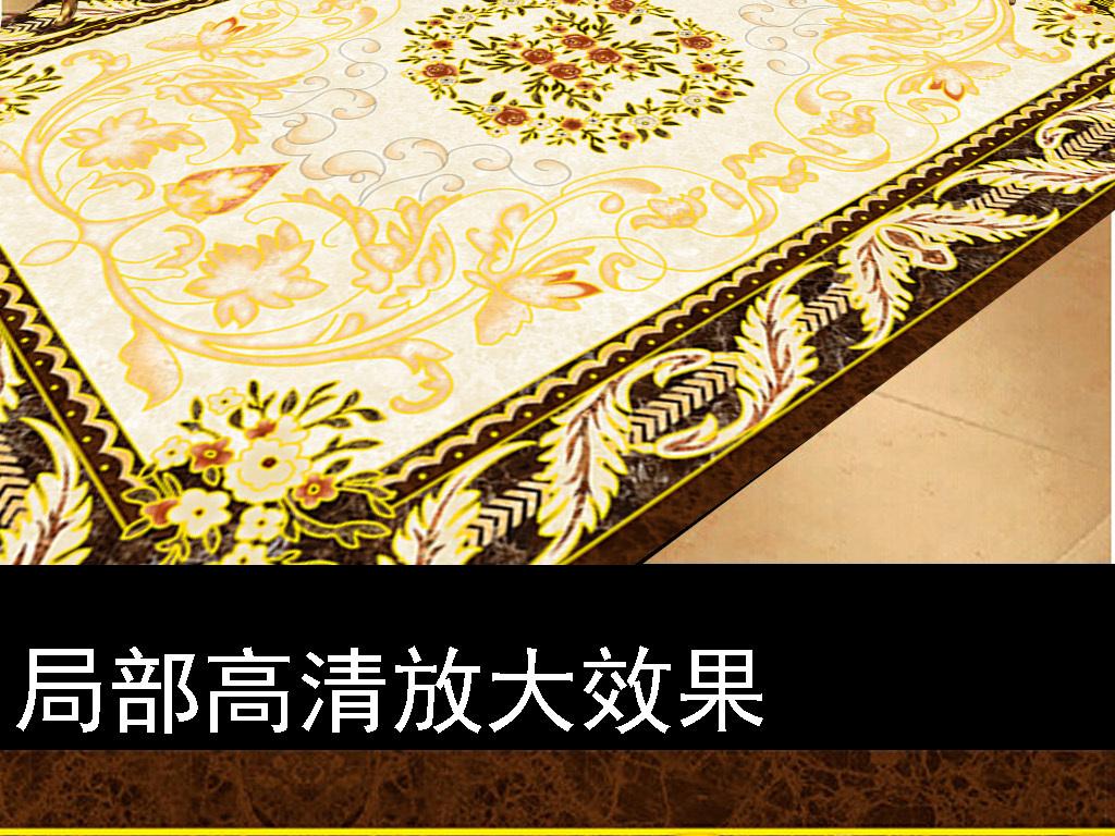欧式花纹吊顶天花 欧式地毯拼花