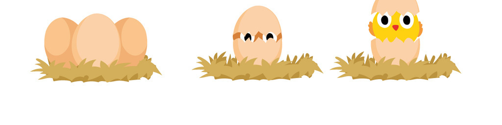 可爱卡通小鸡卡通鸡蛋素材