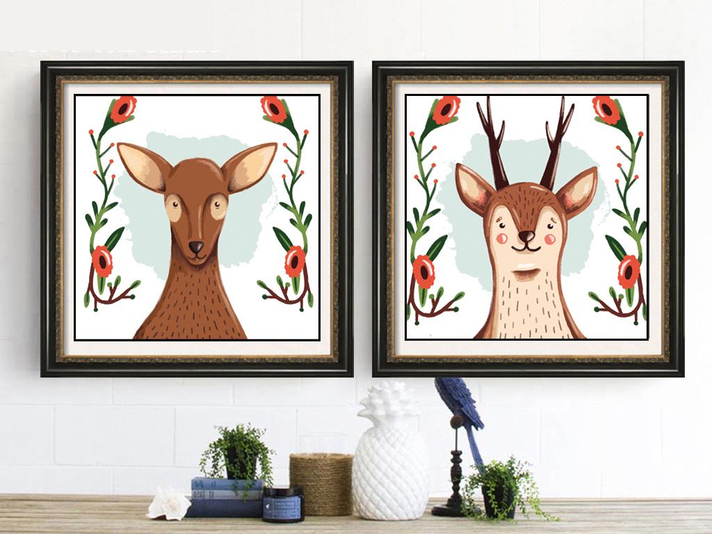 动物画细节油漆传说人物设计广告设计无框画装饰画背景画油画花卉手绘