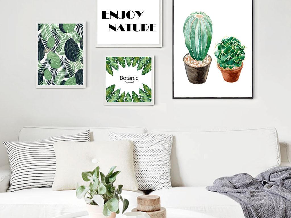 北欧小清新创意照片墙壁组合装饰画图片设计素材_高清图片