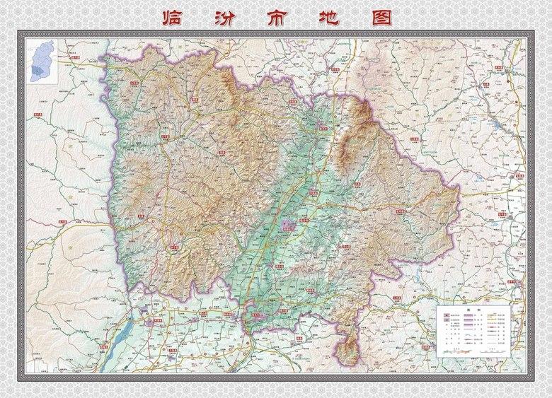 临汾市地图超清版大图