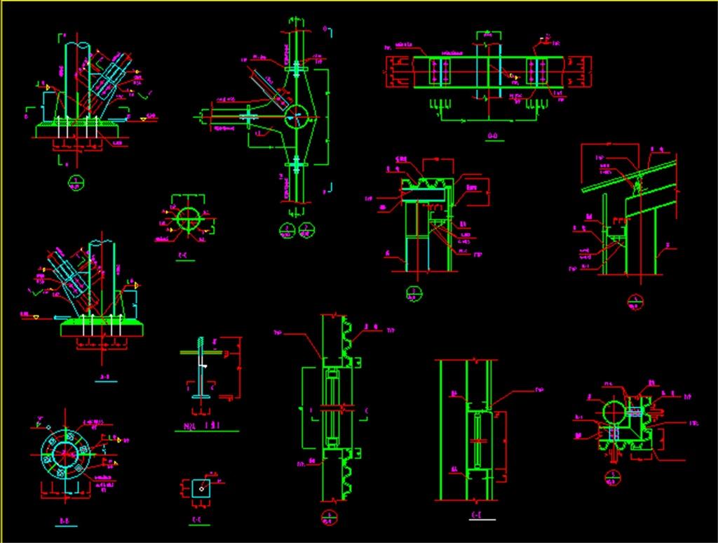 框架钢结构cad图纸