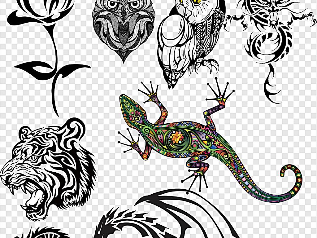 设计元素 其他 其他 > 纹身纹身图案纹身图腾彩色纹身  版权图片 分享
