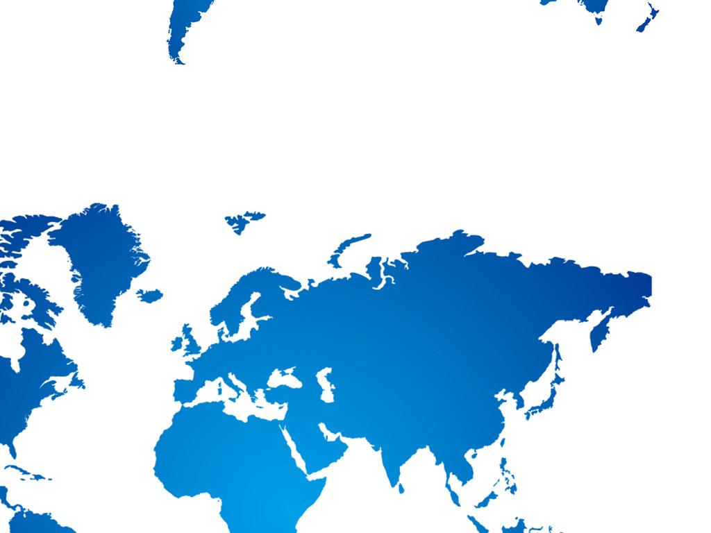 色块多款可编辑世界地图ppt素材模板