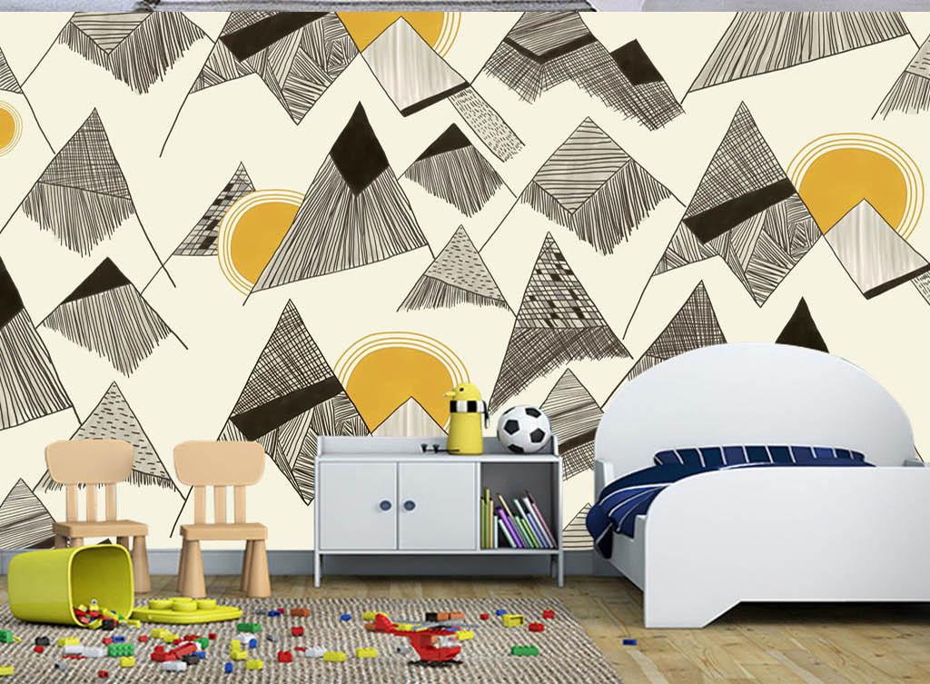 背景墙|装饰画 电视背景墙 手绘电视背景墙 > 现代时尚素雅手绘几何图