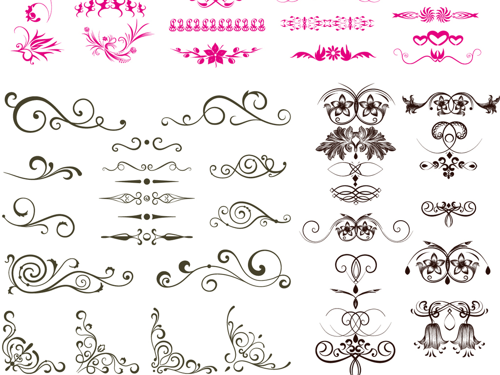 ai)欧式花纹边框矢量图素材古典花纹