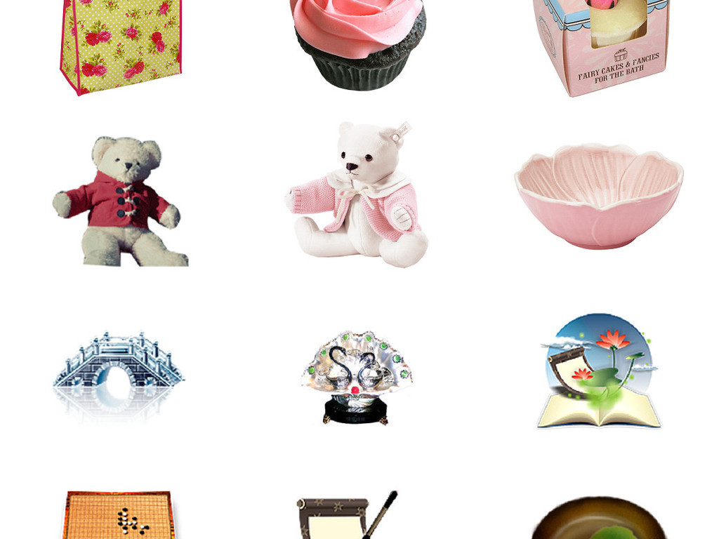 生活小装饰物品免抠png透明图片