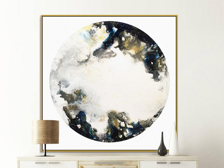 新中式玄关背景墙画抽象水墨云彩装饰画
