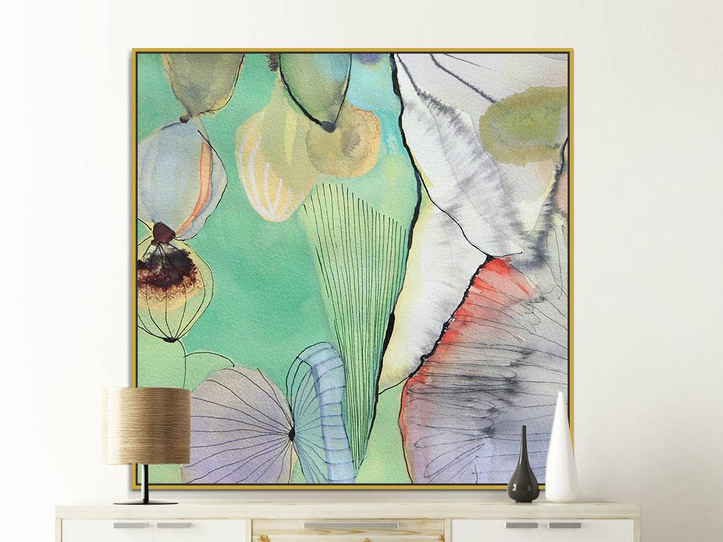 客厅抽象画餐厅画装饰画现代简约油画