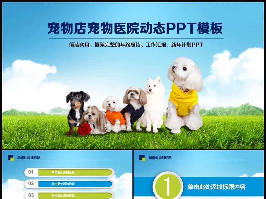 宠物店宠物ppt模板