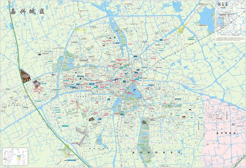 嘉兴市城区地图