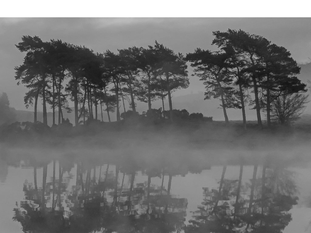 风景画横版挂画                                  有框装饰画黑白
