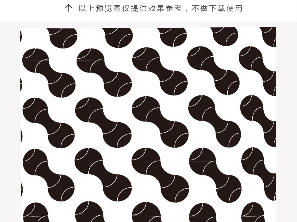 黑白图案·装饰画素材80例