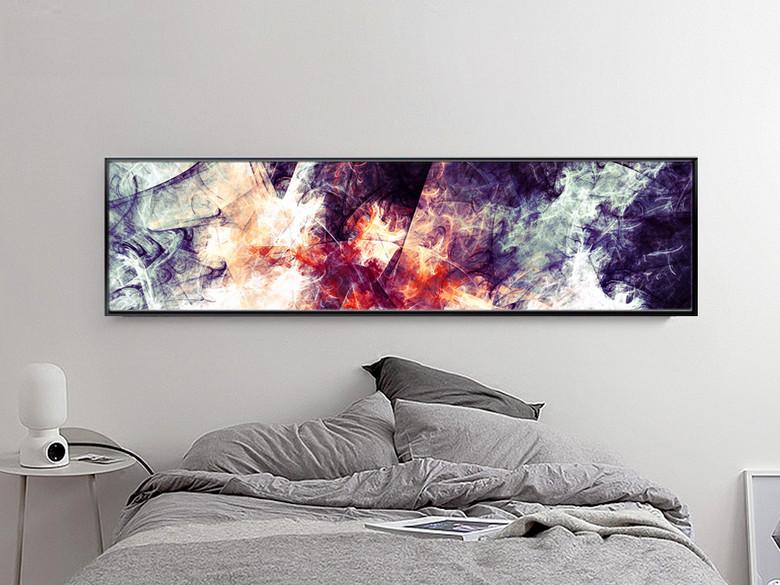 简约抽象碰撞星云装饰画床头画