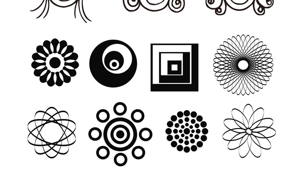 植物花卉简笔画装饰画图片设计素材_高清其他模板下载