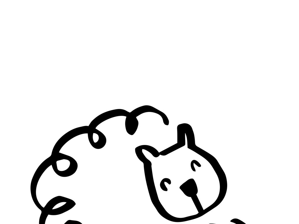 动物绵羊简笔画素材是用户qq23f2c059在2017-08-09 11:14:52上传到我