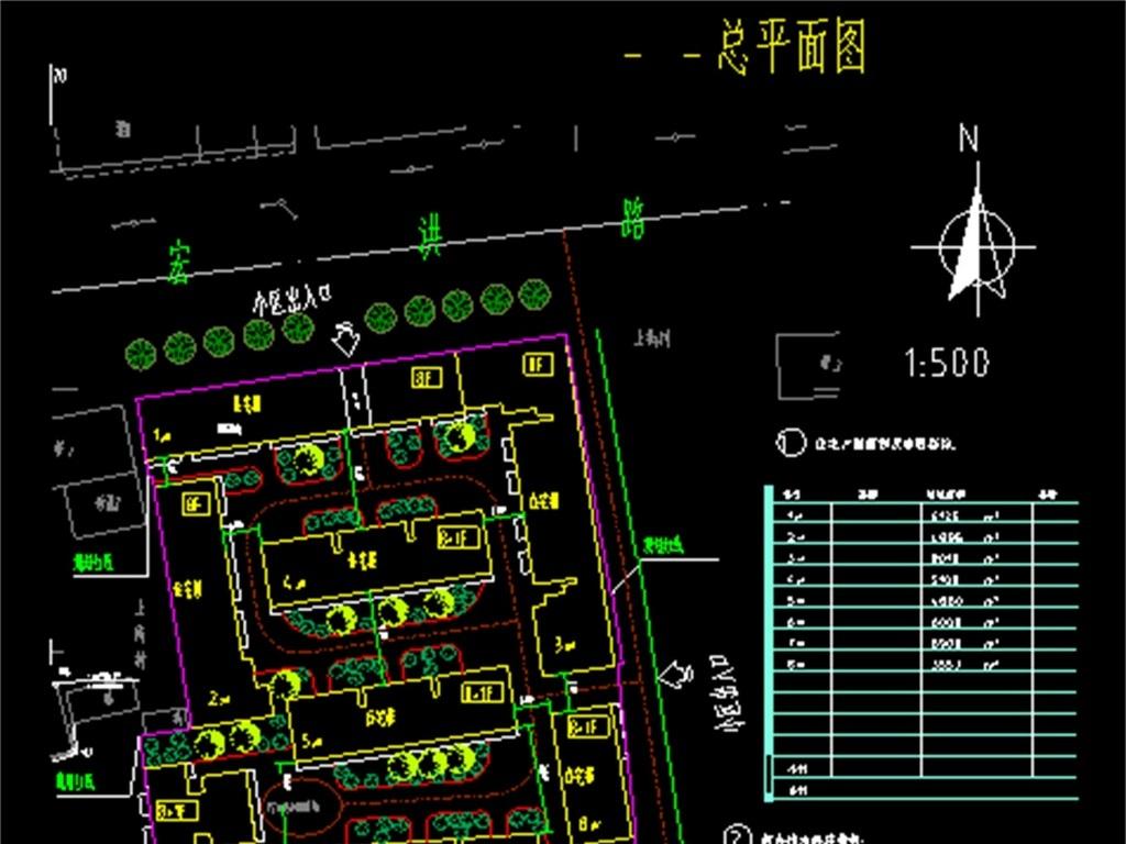 平面图小区景观效果图小区效果图规划设计图住宅小区酒吧cad施工图