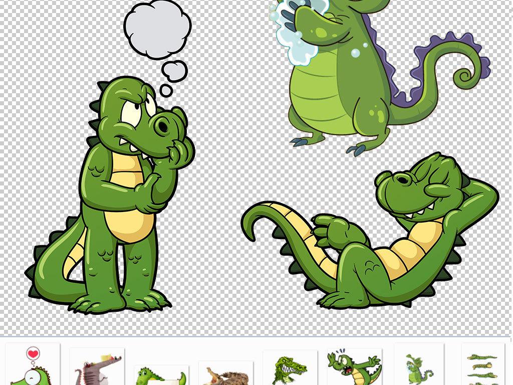卡通鳄鱼动物图片海报素材