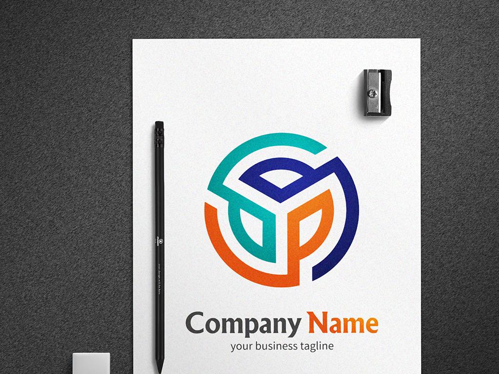 抽象字母y工业logo标志设计