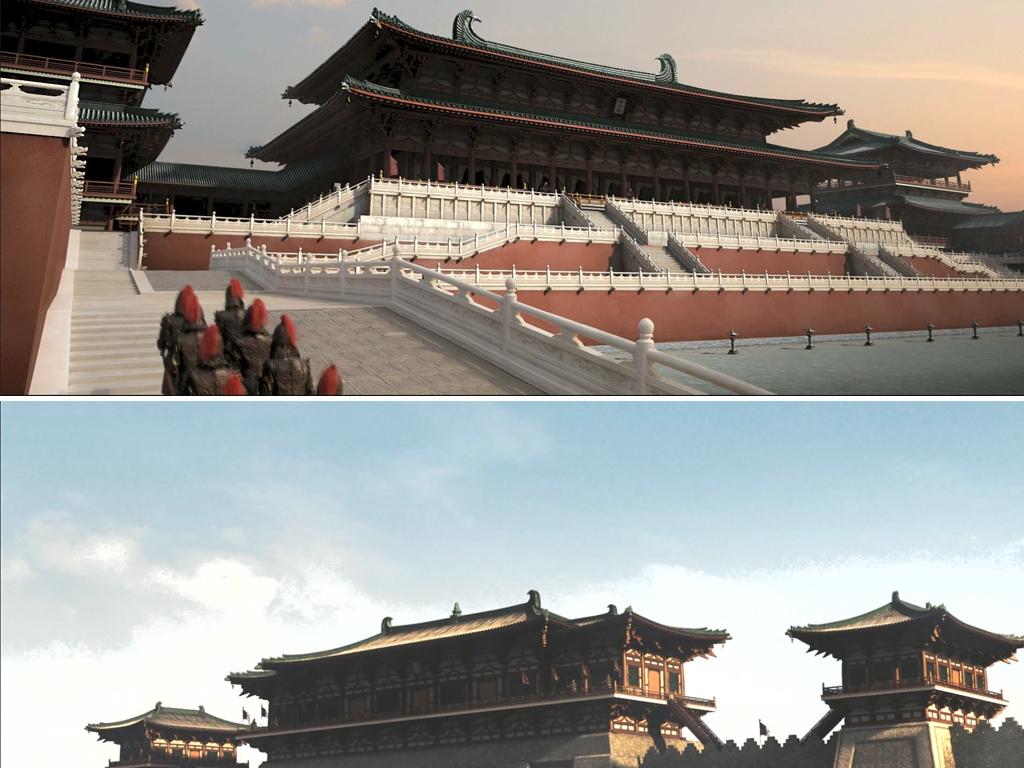 古代皇宫室内中国风晚会视频