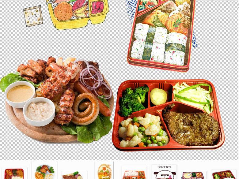 卡通盒饭快餐食品图片海报素材(图片编号:160