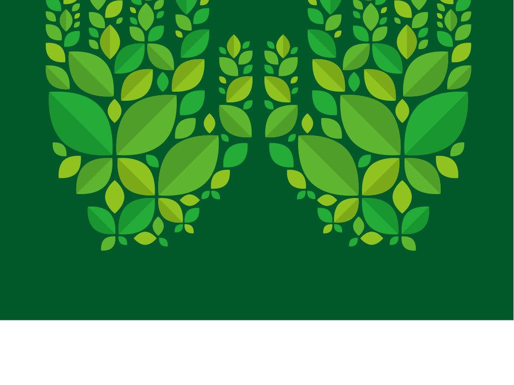 卡通绿色手掌花纹背景图
