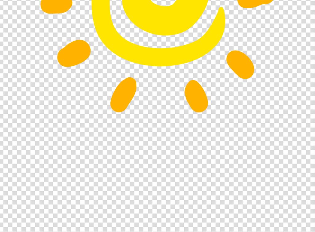 卡通手绘简笔画太阳