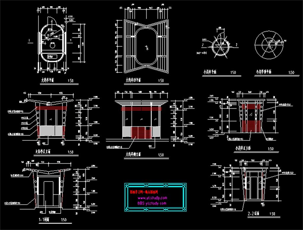 岗亭cad平面设计图