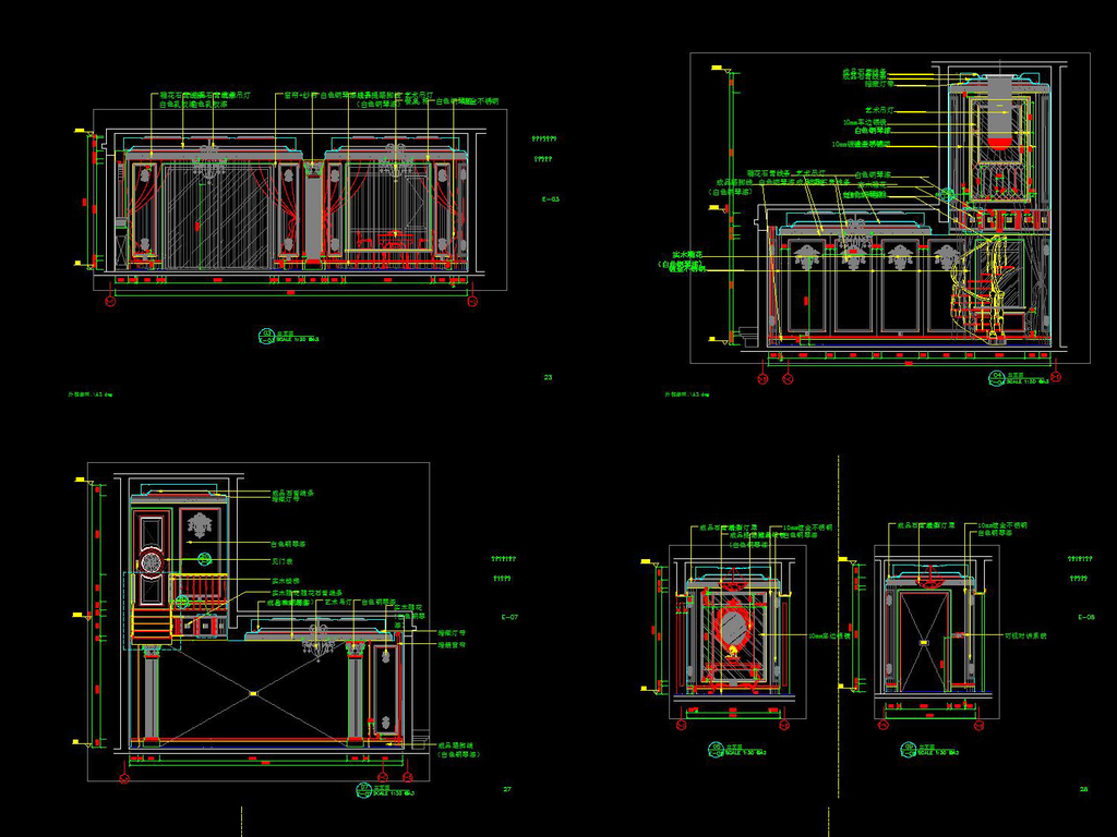 效果图欧式施工图别墅施工图实木楼梯cadcad实木罗马柱cad整木定制