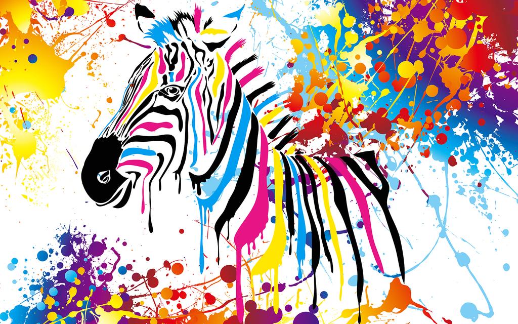 psd)手绘手绘斑马彩色斑马色彩斑马水彩斑马水彩喷墨斑马手绘线条斑马