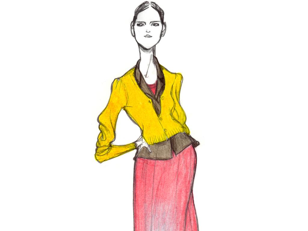 创意时装手绘效果图高清女装时尚插画