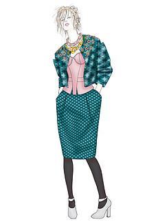 女装成衣设计手稿高清效果图时装画素材-服装设计图片素材 服装设计