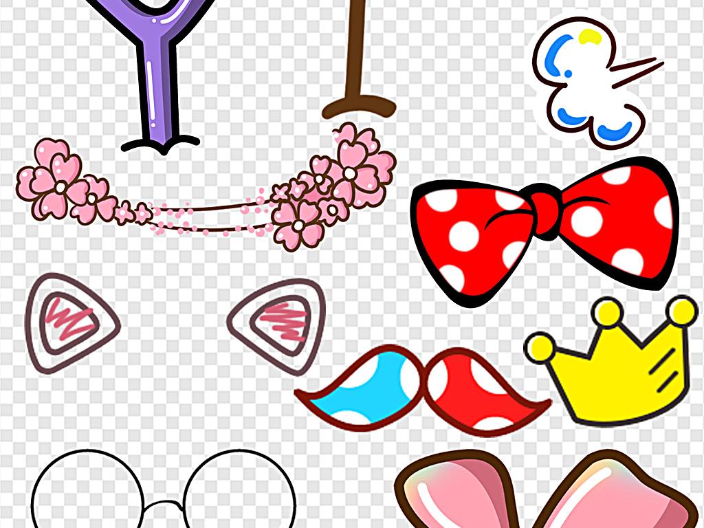 可爱卡通幼儿装饰头饰蝴蝶结装饰美图素材