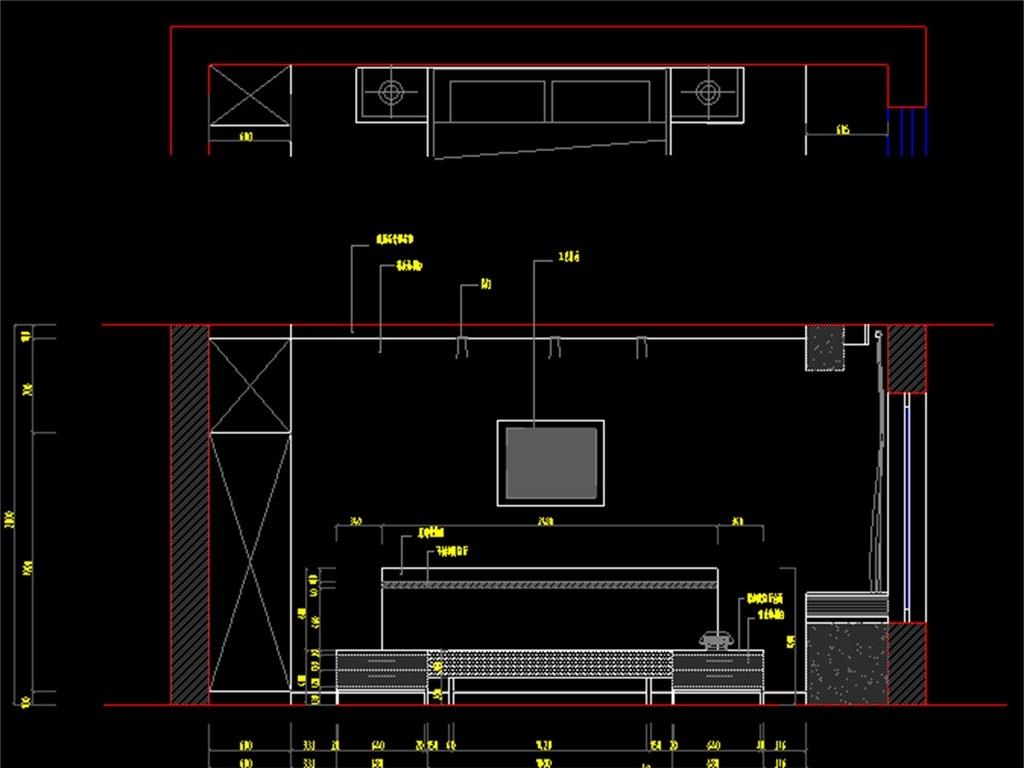 三室两厅两卫cad装修图(图片编号:16077587)_cad图纸